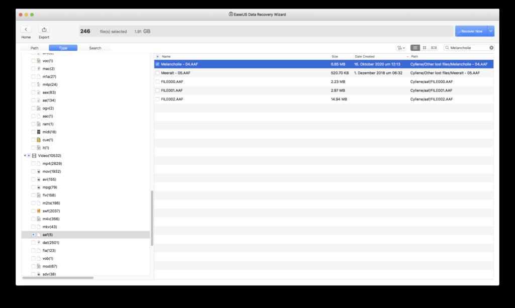 Datenrettung mit EaseUS